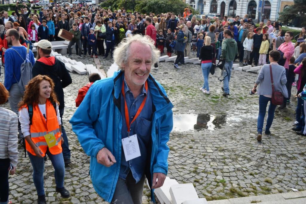 Directorul artistic,   Julian Maynard Smith,   mulțumit că totul a descurs bine/ Foto: Maria Man