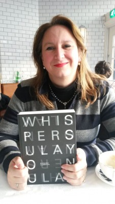 Maria Bojan and her book Whispers Ulay on Ulay Amsterdam Nov 2014