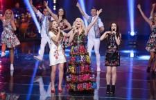 Ilinca Băcilă cântând alături de Loredana / Foto: arhiva personală