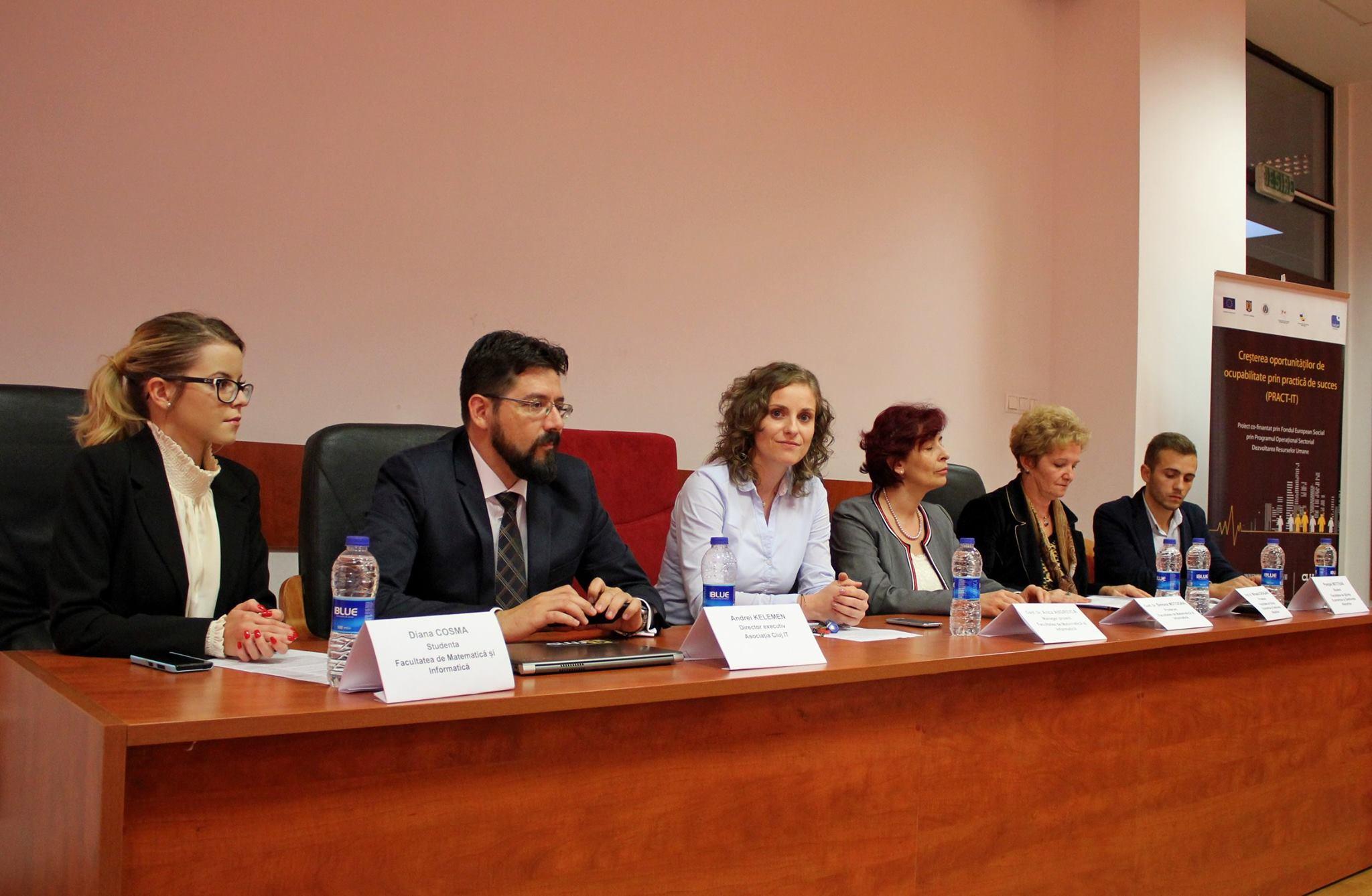 Proiectul are o valoarea de aproximativ 500.000 de euro și a ajutat 450 de studenți să ia un prim contact cu piața muncii (FOTO: Dan Bodea)