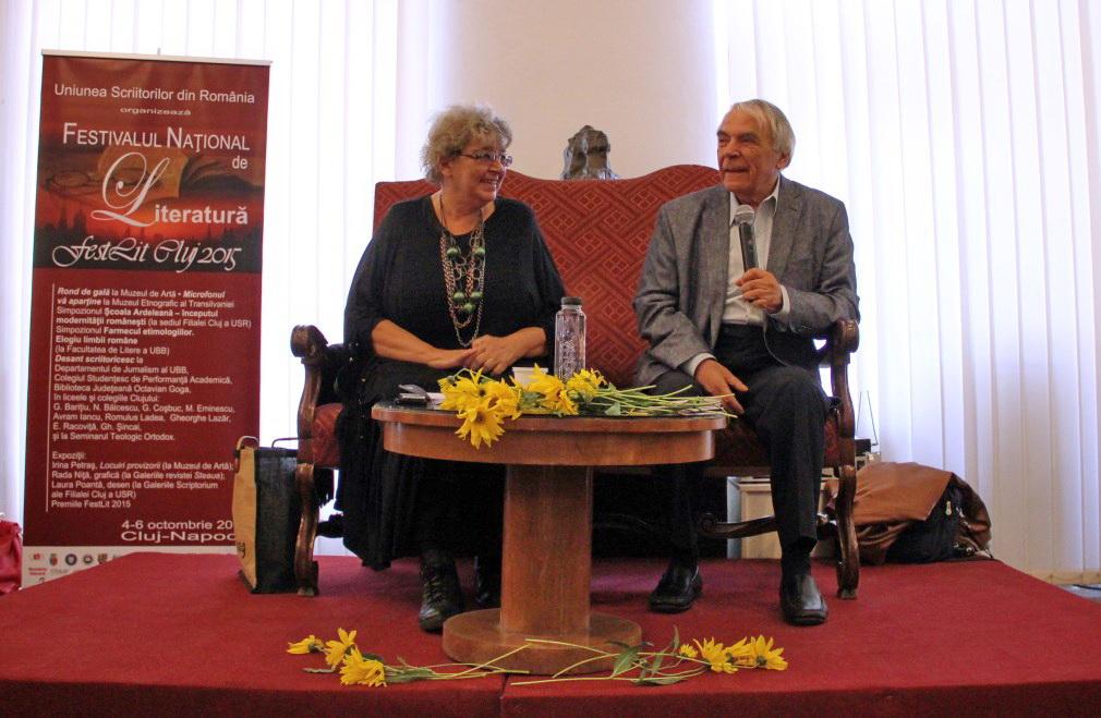 Irina Petraș și Nicolae Manolescu/Foto: Dan Bodea