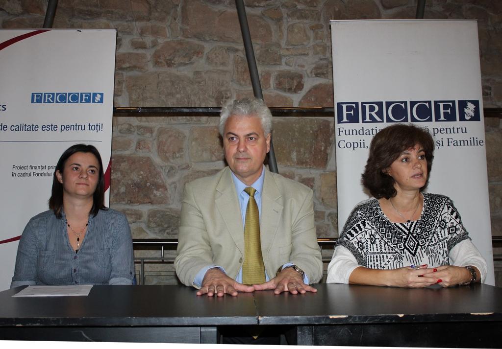 Oana Bica,   manager de proiect,   Mihai Roșca,   președinte FRCCF,   Raimonda Boian,   PR FRCCF / Foto: Dan Bodea
