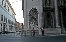 Una dintre cele patru fântâni care decorează intersecția Quattro Fontane / Foto: Bogdan Stanciu
