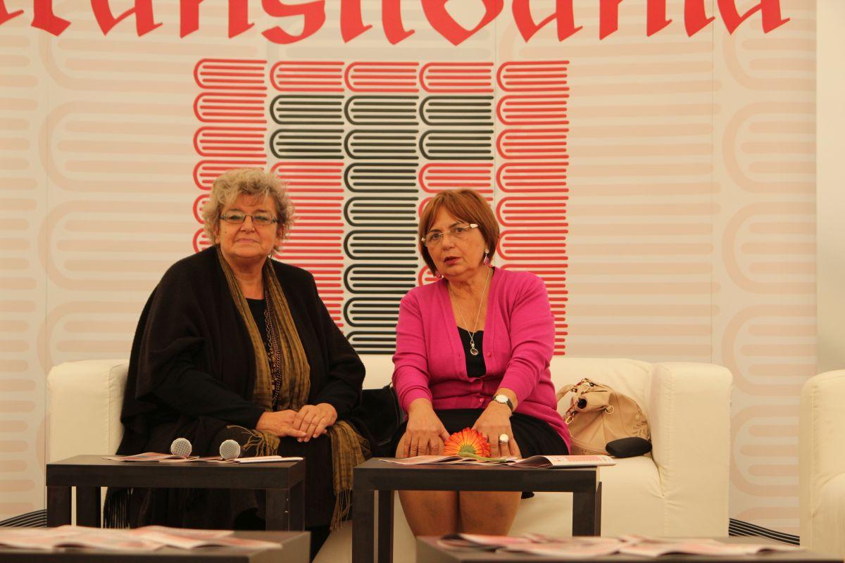 Gabriela Adameșteanu (dreapta), alături de Irina Petraș/Foto: Cristina Beligăr