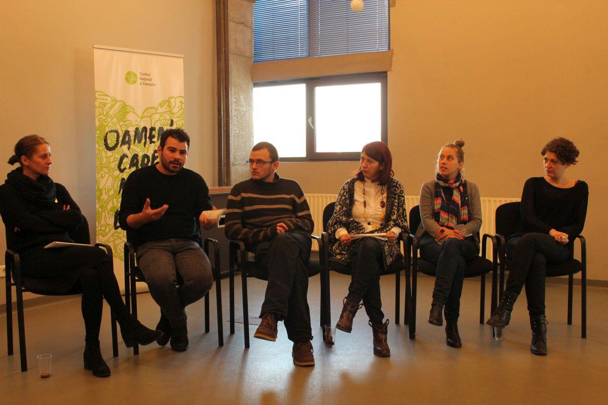 De la dreapta, la stânga: Oana Hodade, Petro Ionescu, Miki Braniște, Raul Coldea, Eugen Jebeleanu și Corina Bucea/Foto: Cristina Beligăr