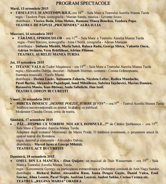 program spectacole festival