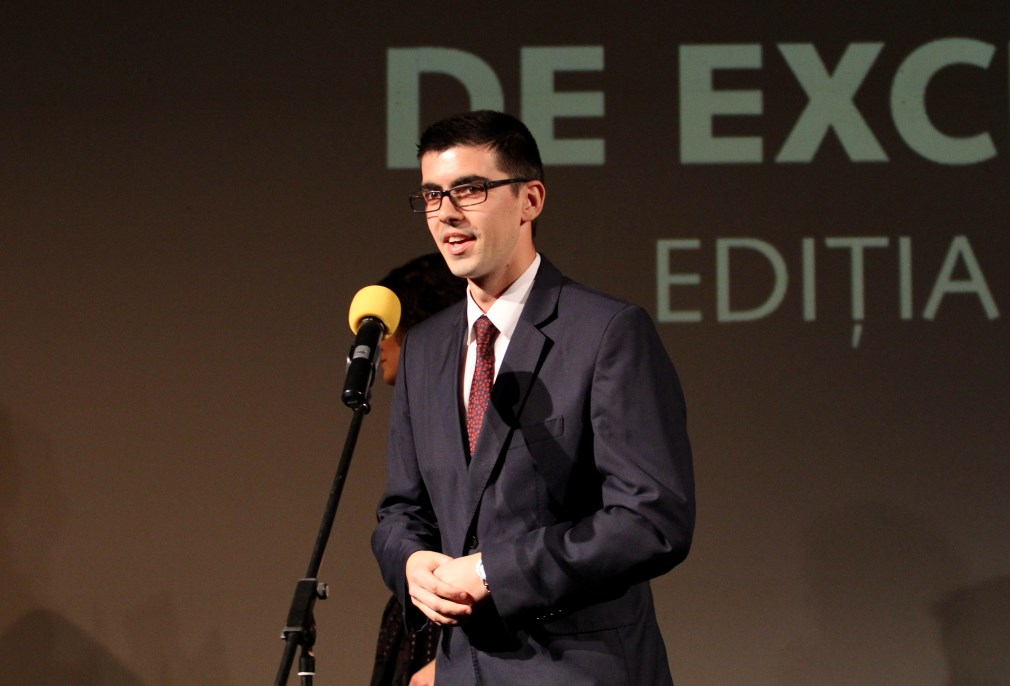 Daniel Gherasim, tânărul Clujului premiat de Transilvania Reporter la a XII-a ediție a Premiilor Media de Excelență/Foto: Dan Bodea