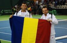 Altădată parteneri de antrenamente şi întreceri, Horia tecău şi Florin Mergea au fost anul acesta oponenţi în finala Turneului Campionilor în proba de dublu masculon / Foto: Dan Bodea