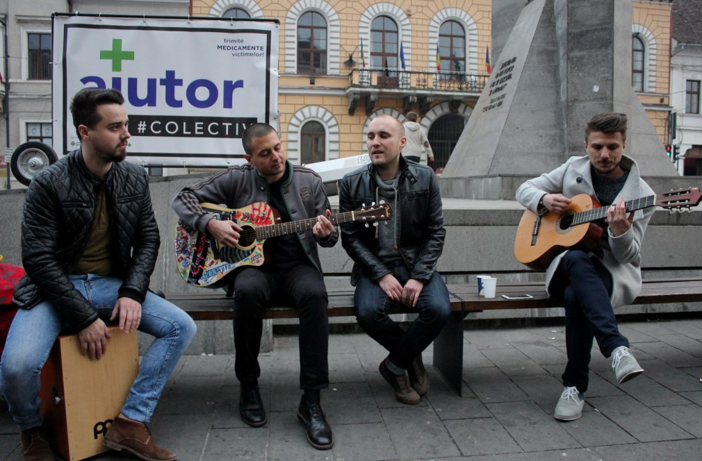 Bogdan Mezofi, Titus Vădan, Valentin Rauca și Tamás Adorjáni/Foto: Dan Bodea