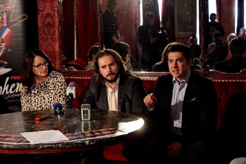 Anita Hartig,   Florin Estefan și Teodor Ilincăi/Foto: Dan Bodea