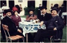 Ion Luca Caragiale alături de Ioan Vaida-Voievod, de trei ori prim-ministru al României mari (dreapta)