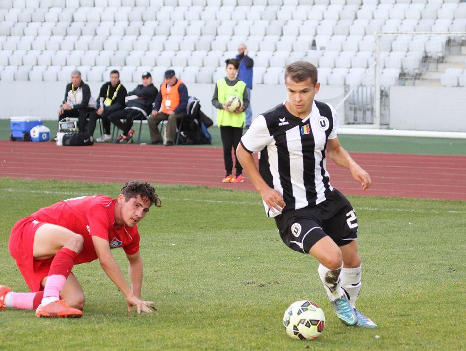 Răzvan Greu a deschis scorul din penalty în meciul câştigat de Universitatea Cluj, scor 2-0, cu FC Bihor Oradea şi a fost unul dintre cei mai buni jucători ai lui Mihai Teja / Foto: Dan Bodea