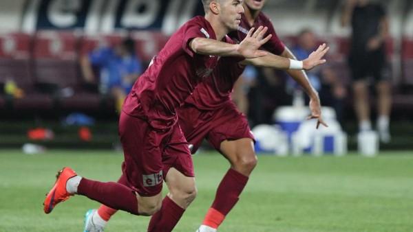 Cristian Lopez a debutat cu gol în noua ediție de campionat, deschiszând scorul în victoria CFR-ului cu Concordia Chiajna / Foto: Dan Bodea