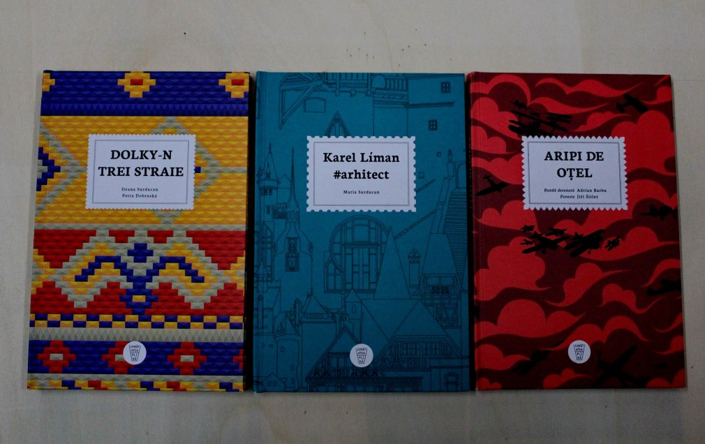 În expoziție de află și cărțile ilustrate de desenatorii clujeni Adrian Barbu,   Ileana Surducan și Maria Surducan