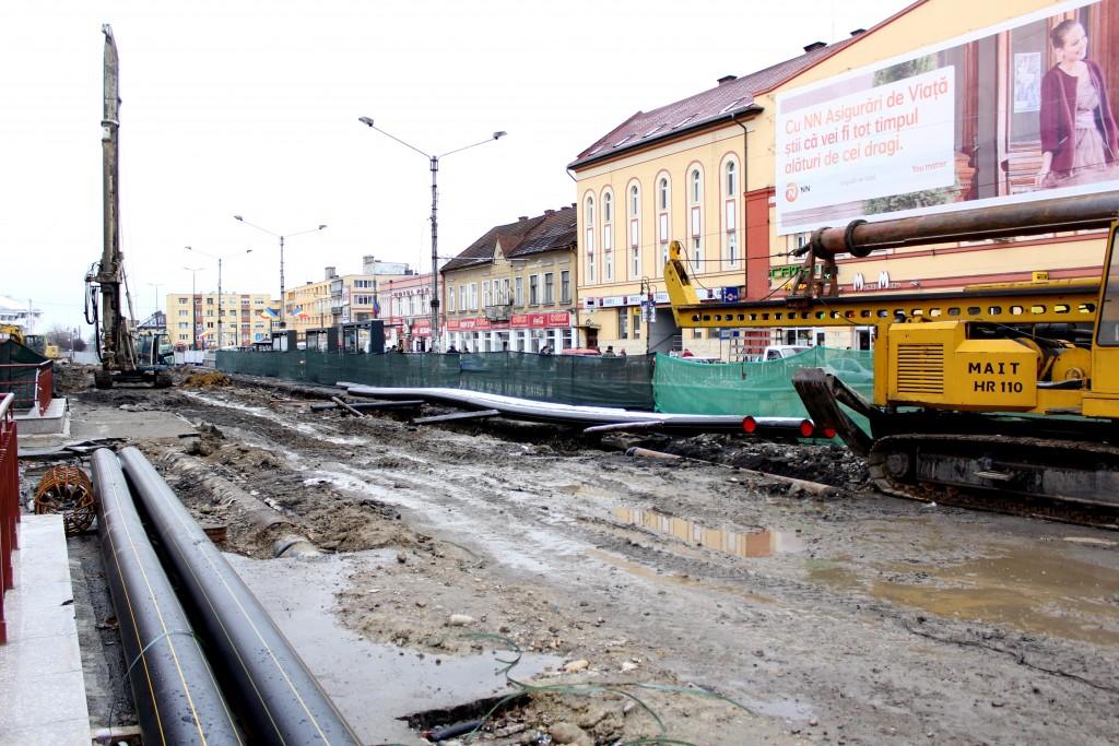 Șantier Piața Gării / Foto: Dan Bodea