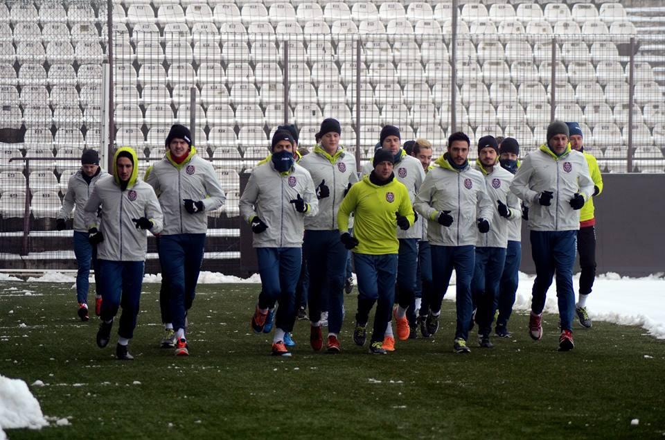 CFR Cluj și-a reluat antrenamentele în efectiv redus / Foto: Dan Bodea