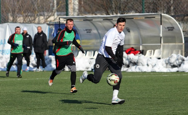 Valentin Lemnaru a marcat o dublă în amicalul cu Sănătatea / Foto: Dan Bodea