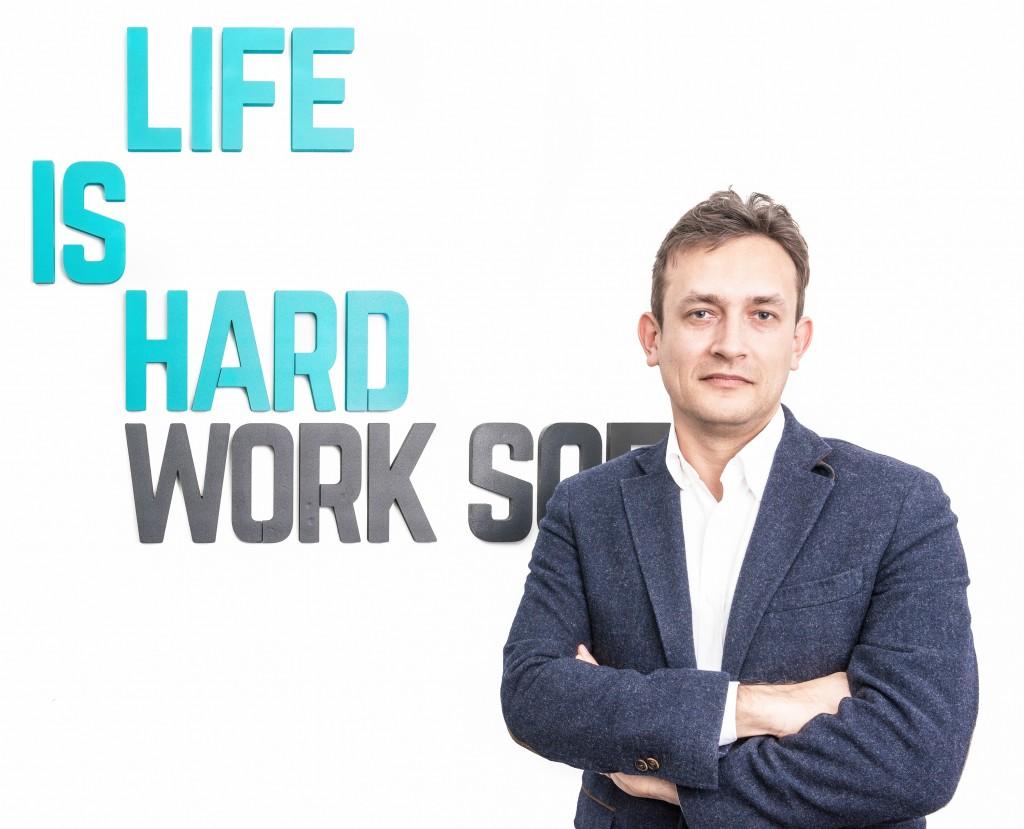 Erik Barna, CEO al LIFE IS HARD