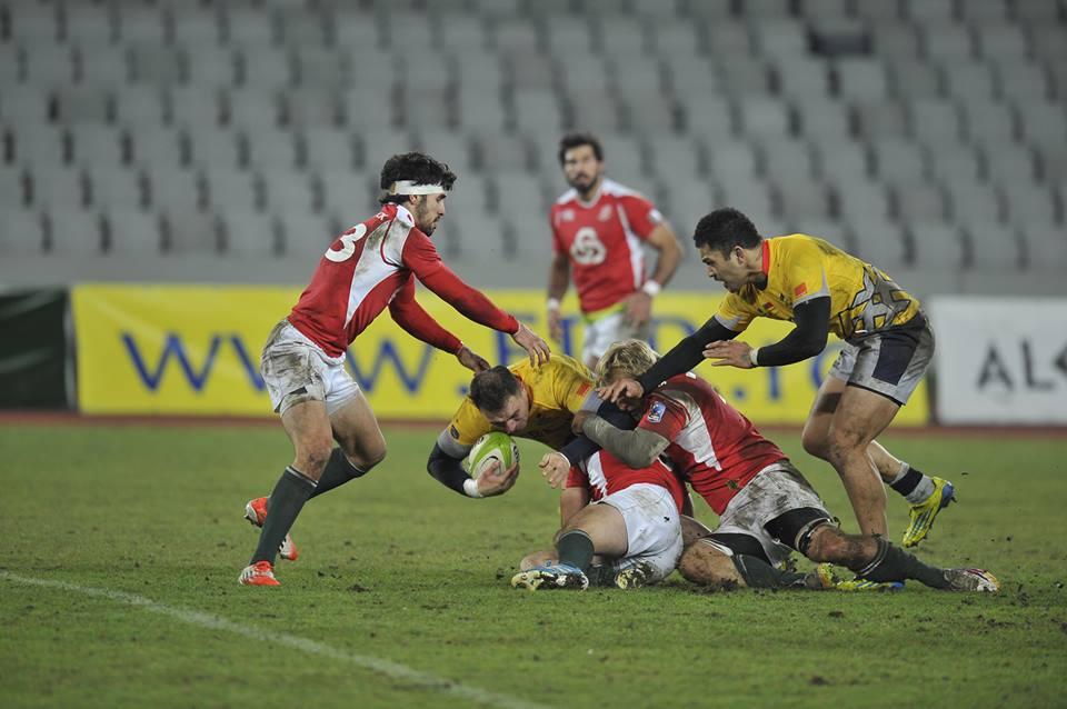 """Echipa naţională de rugby a României se simte perfect la Cluj. """"Stejarii"""" au surclasat, sâmbătă, Portugalia, cu scorul de 39-14"""