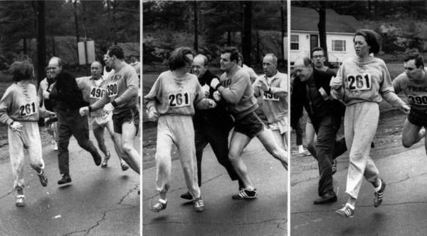 """""""Nu ştiam că voi face istorie. Nu alergam la Boston pentru a demonstra ceva. Eram doar un copil care voia să participe la primul lui maraton"""" - Kathrine Switzer"""
