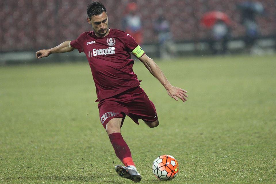 Căpitanul Mario Camora a înscris la Timișoara primul său gol din actualul campionat și a dat semnalul revenirii CFR-ului în meciul cu ACS, terminat la egalitate, scor 2-2 / Foto: Dan Bodea