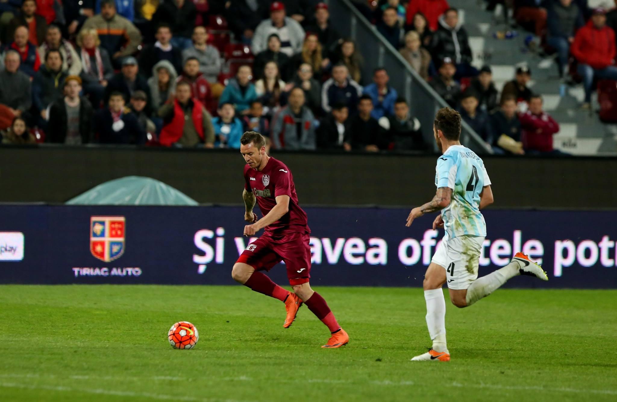 Cristi Bud a marcat golurile care au asigurat calificarea în finală pentru CFR Cluj (Foto: Dan Bodea)