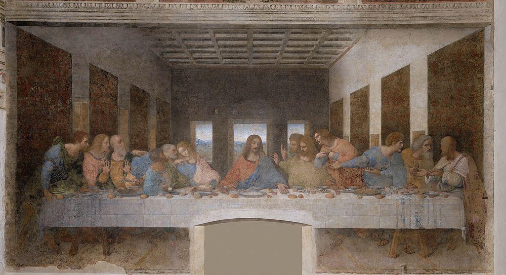 Cina cea de Taină, Mânăstirea Santa Maria delle Grazie, Milano: una din cele mai cunoscute opere de artă religioasă din istorie