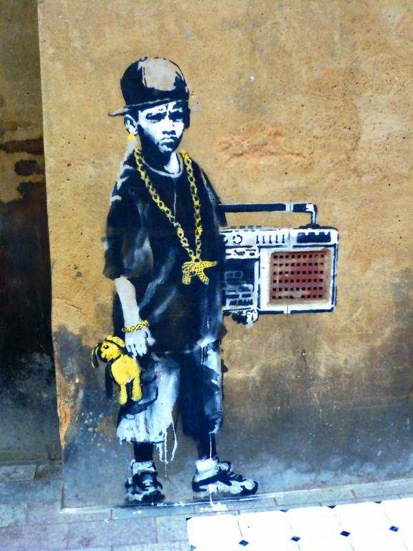 Copil ghetto banksy
