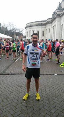 Csibi Magor,   tocmai terminând IAAF Half Marathon World Championship la Cardiff în 26 martie.
