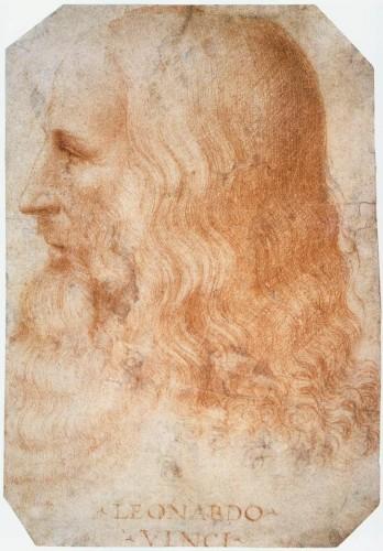 Leonardo da Vinci, portret de Francesco Melzi