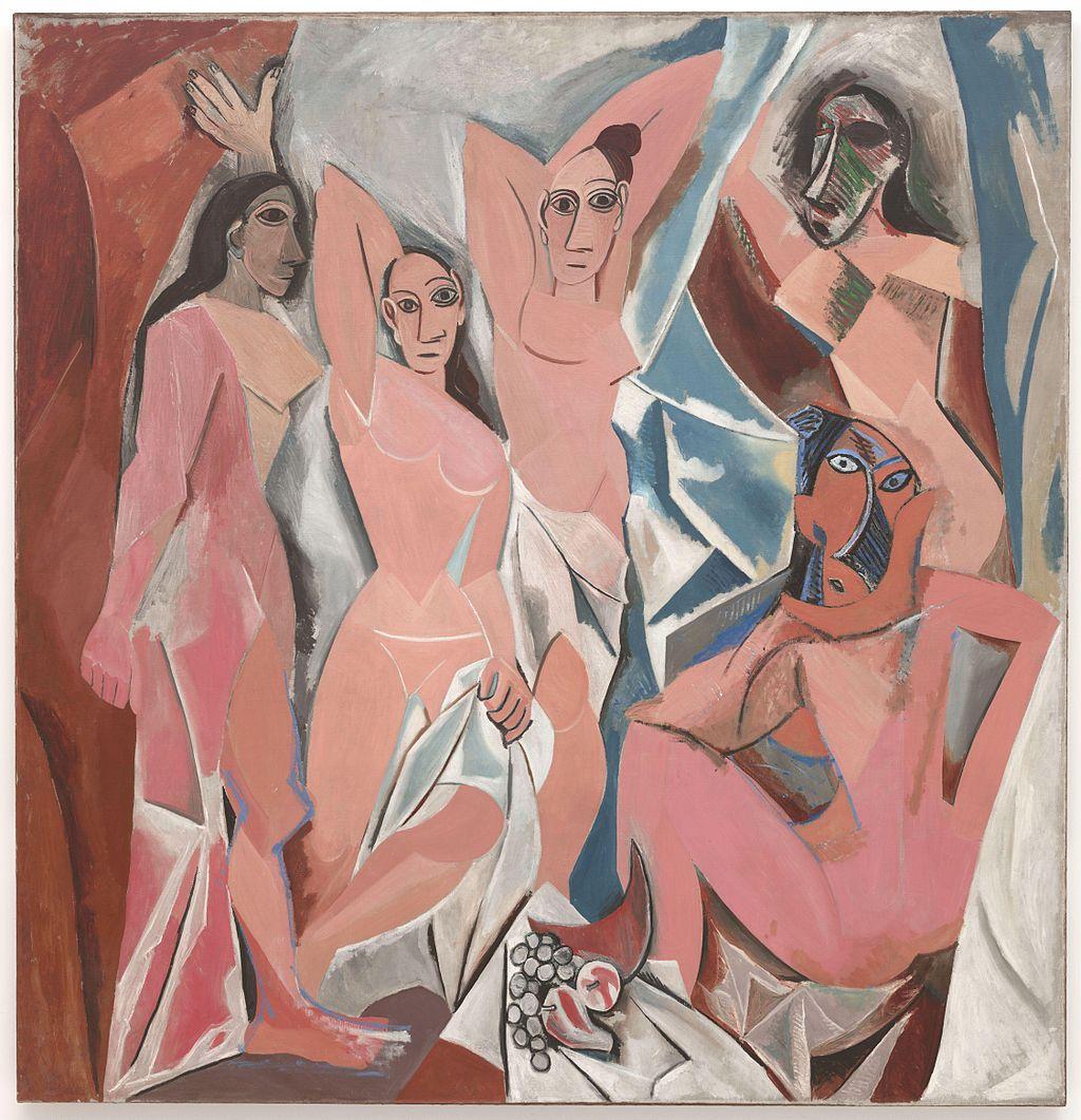 """""""Les Demoiselles d'Avignon"""" (""""Domnişoarele din Avignon""""),   din 1907,   este una dintre cele mai cunoscute şi mai importante lucrări ale lui Picasso. Deşi a fost neînţeles la aceea vreme,   acest tablou ce reprezenta cinci personaje feminine dintr-un bordel a devenit cea mai semnificativă lucrare din perioada timpurie a lui Pablo Picasso,   pentru că marca sfârşitul erei în care pictura trebuia neapărat să înfăţişeze realitatea şi vestea naşterea cubismului."""