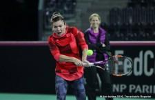 Simona Halep are trei victorii din tot atâtea meciuri disputate în compania numărului unu din echipa Germaniei,   Angelique Kerber / Foto: Dan Bodea