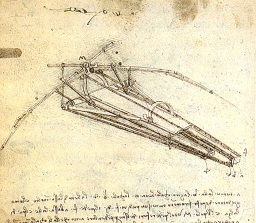 Studiu de maşină zburătoare, 1488