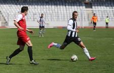 """Vojtuz (foto,   în dreapta imaginii) a reușit o dublă pentru """"U"""" în victoria,   scor 2-0,   cu Metalul Reșița / Foto: Dan Bodea"""