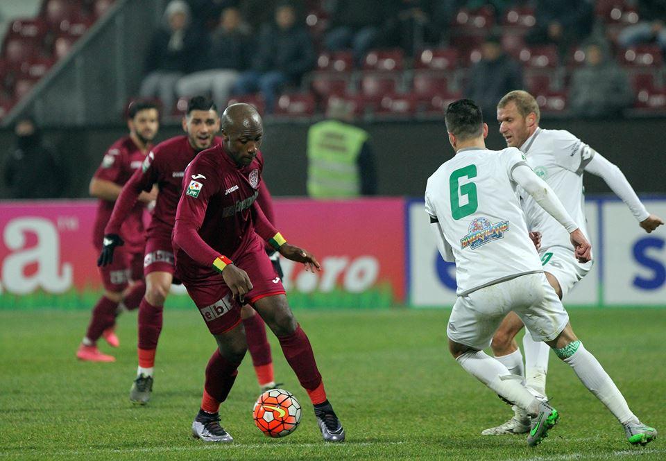 Atacantul Belek (foto, la minge) a marcat un gol pentru CFR în înfrângerea, scor 1-2, de la Chiajna / Foto: Dan Bodea