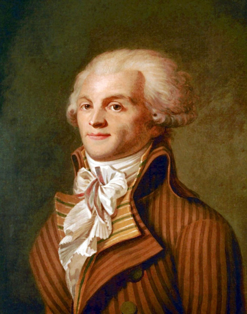 Maximilien Robespierre, conducătorul iacobinilor şi coordonatorul Regimului Terorii