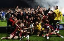 CFR Cluj a câștigat prima Cupă a României în 2008 și rămâne singura echipă din provincie câștigătoare de trei ori la rând a trofeului (2008,   2009,   2010) / Foto: Dan Bodea