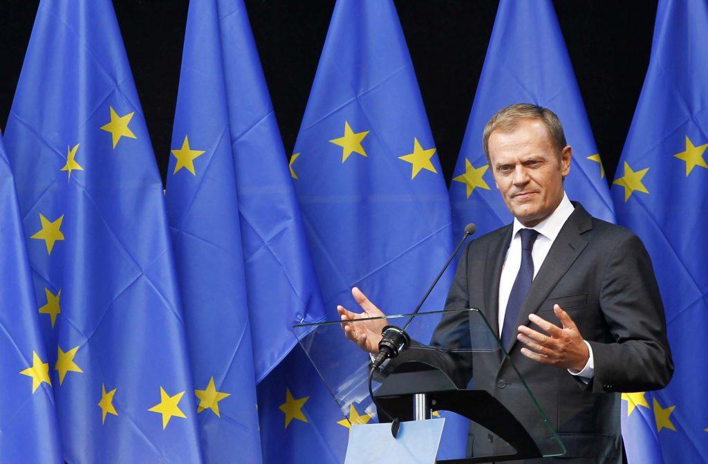 """Preşedintele UE,   Donald Tusk consideră că un vot pentru ieşirea din Uniune a Marii Britanii ar putea duce la """"sfârşitul civilizaţiei politice occidentale""""."""