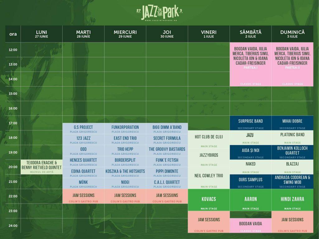 Programul Jazz in the Park 27 iunie-3 iulie (1)