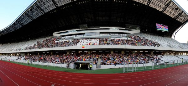 Aproximativ 2.000 de oameni au urmărit meciul România - Elveția pe ecranele gigant de pe Cluj Arena / Foto: Dan Bodea