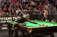 Mark Selby a câştigat turneul demonstrativ de la Cluj-Napoca,   Snooker Titans Trophy,   din luna iunie / Foto: Dan Bodea