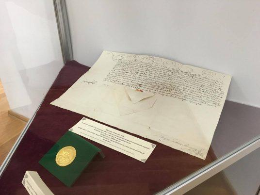 Documentul prin care voievodul Mihai Viteazul acordă privilegii orașului Cluj