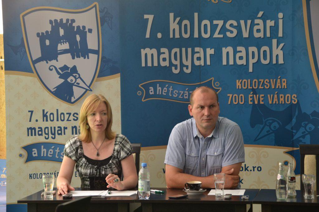 Szabó Lilla, director de programe şi Gergely Balázs, organizator principal Zilele Maghiare - Foto:Maria Man
