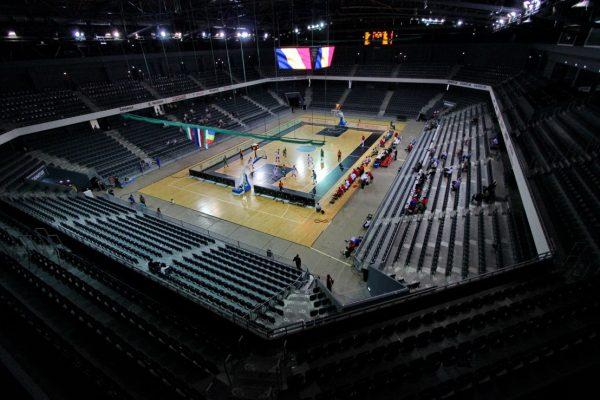 Astfel a arătat Sala Polivalentă din Cluj-Napoca la turneul amical organizat de FRBaschet (Foto: Dan Bodea)