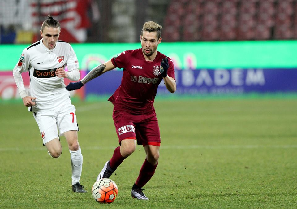 Jakolis putea să încline decisiv balanța în favoarea CFR-ului, în meciul cu Dinamo, dar șutul său din minutul 81 a fost respins greu de Brănescu / Foto: Dan Bodea