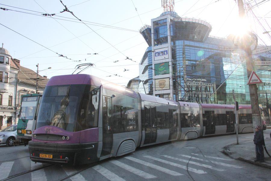 tramvai Mov, centru, Baritiu