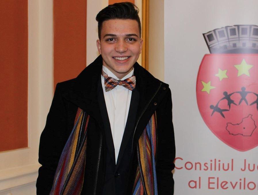 Lariu Filip, președintele Consiliului Județean al Elevilor Cluj / Foto: arhiva personala