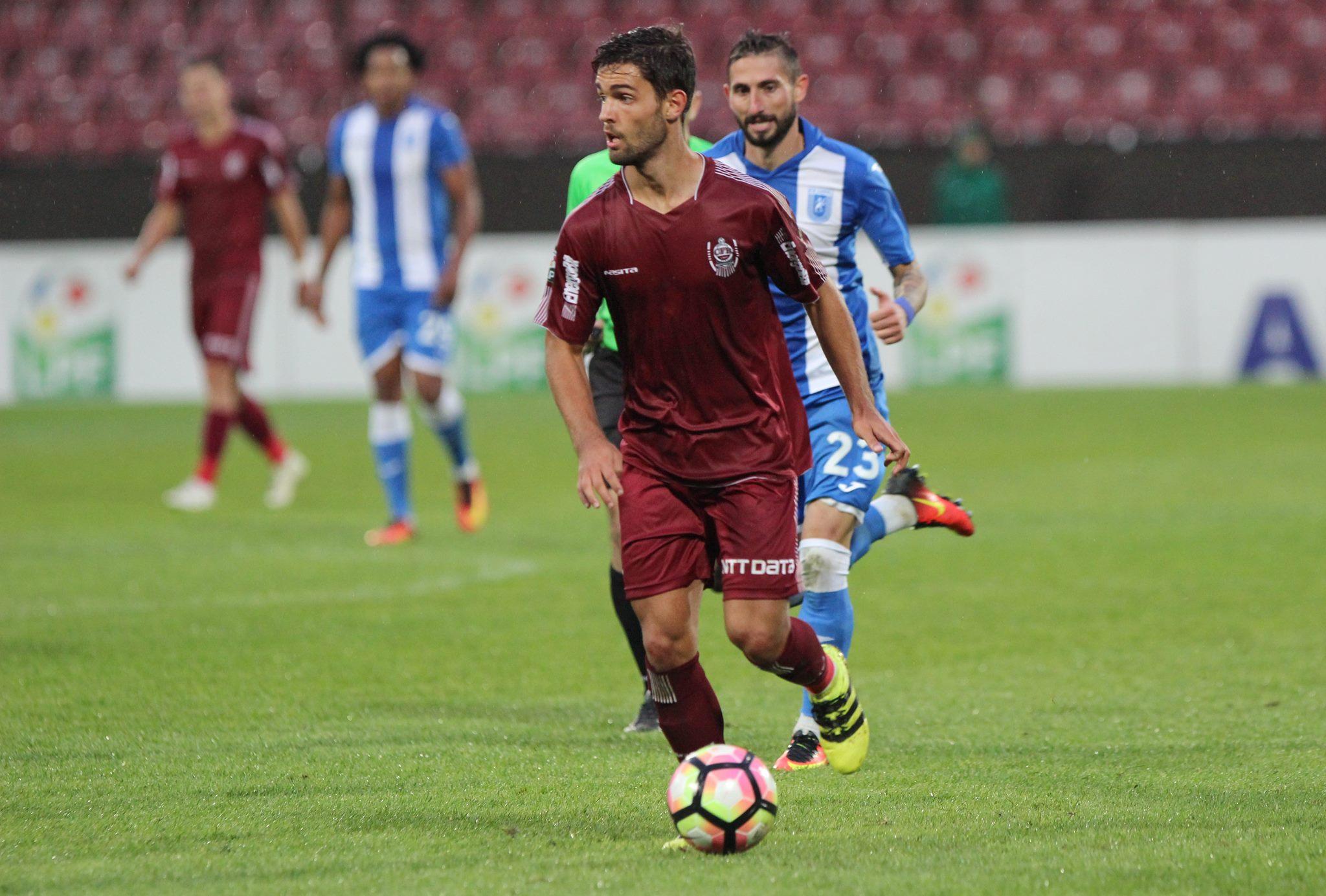 Felipe Nascimento a marcat golul de 1-1 în duelul dintre CFR Cluj şi GAz Metan Mediaş / Foto: Dan Bodea
