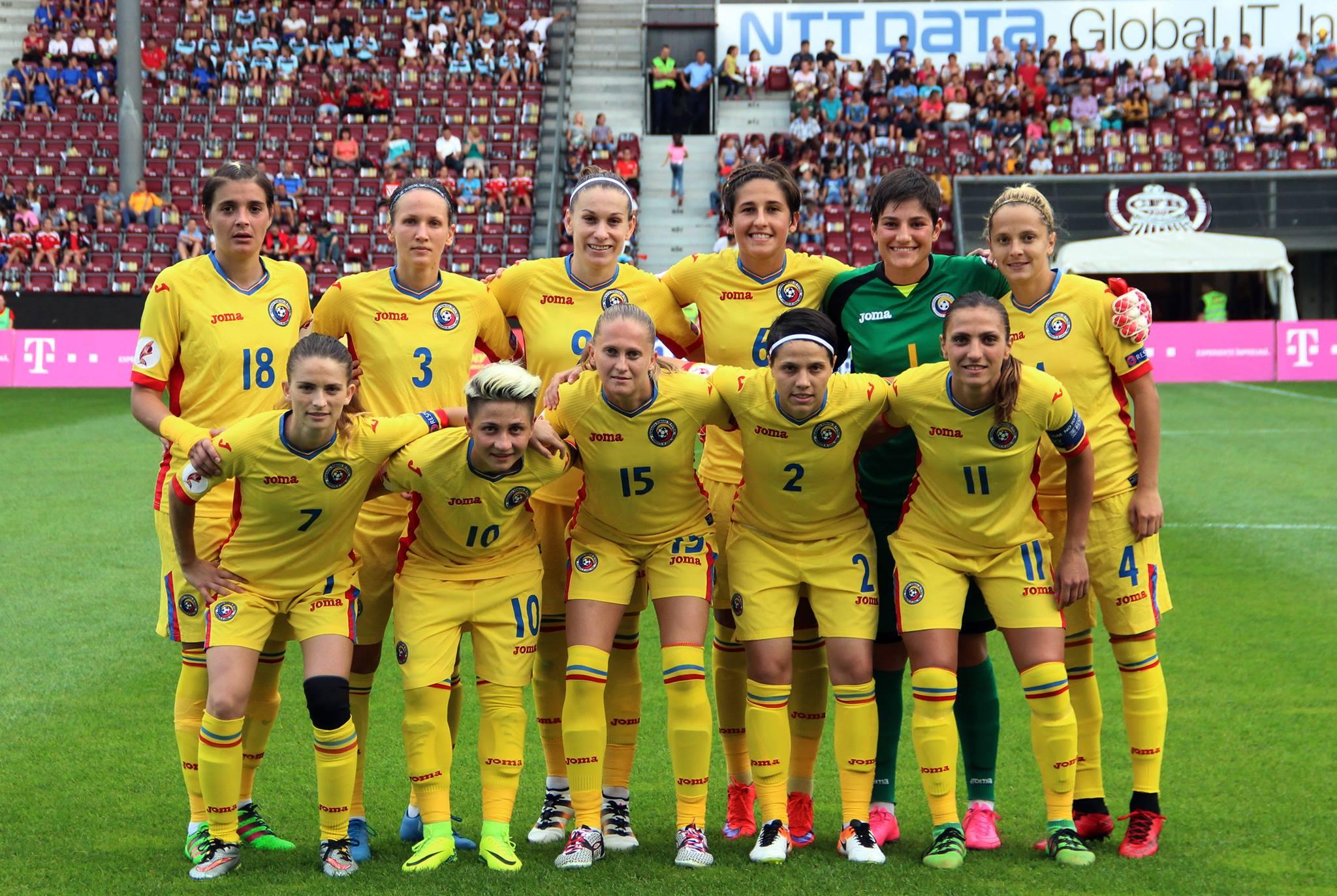 Echipa naţională feminină de fotbal a României este la 90 de minute de o calificare istorică la un turneu final de Campionat European / Foto: Dan Bodea