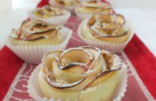 Brioșe-trandafir cu mere